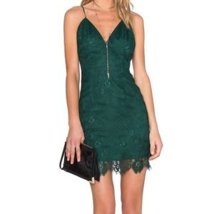 X By NBD Ava Dress green lace mini party night out